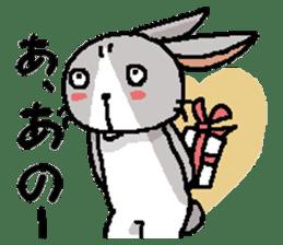 I'm gray rabbit ! 5 (Love is all) sticker #15006308
