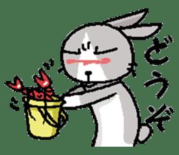 I'm gray rabbit ! 5 (Love is all) sticker #15006309