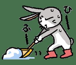 I'm gray rabbit ! 5 (Love is all) sticker #15006311