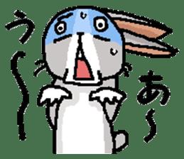I'm gray rabbit ! 5 (Love is all) sticker #15006315