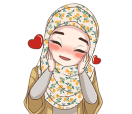 Cheerful Hijab sticker #15008811