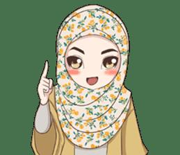 Cheerful Hijab sticker #15008817