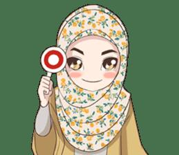 Cheerful Hijab sticker #15008824