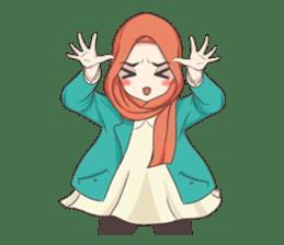 Cheerful Hijab sticker #15008827