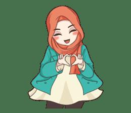 Cheerful Hijab sticker #15008828