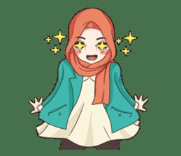 Cheerful Hijab sticker #15008829