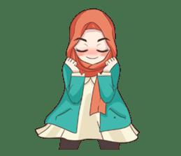 Cheerful Hijab sticker #15008833