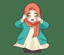 Cheerful Hijab sticker #15008840