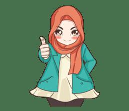 Cheerful Hijab sticker #15008841