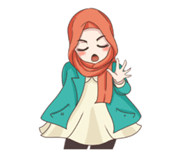 Cheerful Hijab sticker #15008842