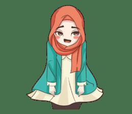 Cheerful Hijab sticker #15008845