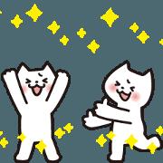 สติ๊กเกอร์ไลน์ Cat moves !
