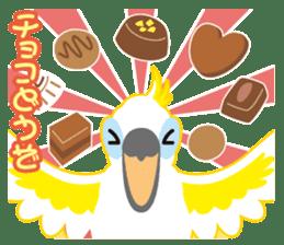 Valentine.Sulphur-Crested Cockatoo2 sticker #15026773