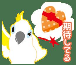 Valentine.Sulphur-Crested Cockatoo2 sticker #15026774