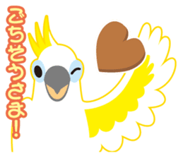 Valentine.Sulphur-Crested Cockatoo2 sticker #15026775