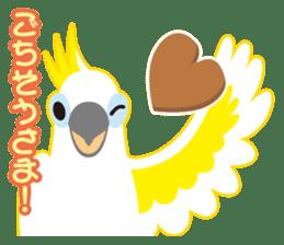 Valentine.Sulphur-Crested Cockatoo2 sticker #15026775
