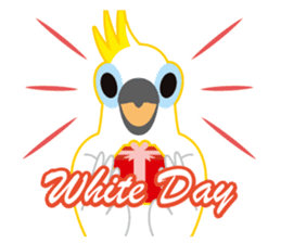 Valentine.Sulphur-Crested Cockatoo2 sticker #15026780