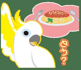 Valentine.Sulphur-Crested Cockatoo2 sticker #15026781