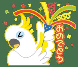 Valentine.Sulphur-Crested Cockatoo2 sticker #15026786