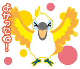 Valentine.Sulphur-Crested Cockatoo2 sticker #15026788