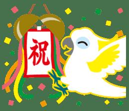 Valentine.Sulphur-Crested Cockatoo2 sticker #15026790