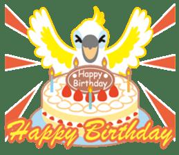 Valentine.Sulphur-Crested Cockatoo2 sticker #15026791