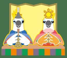 Valentine.Sulphur-Crested Cockatoo2 sticker #15026794