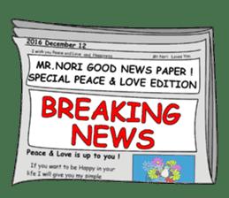 Mr. Nori Peace and Love Messenger sticker #15034076