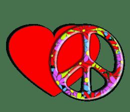 Mr. Nori Peace and Love Messenger sticker #15034109