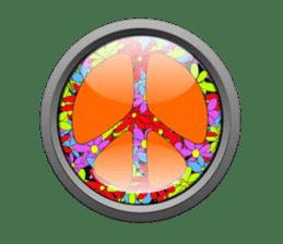 Mr. Nori Peace and Love Messenger sticker #15034110