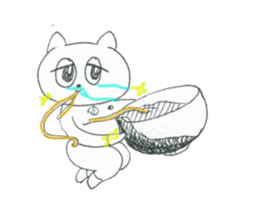 cry emamouse cats sticker #15038689