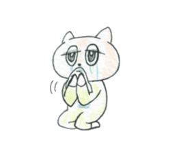 cry emamouse cats sticker #15038696