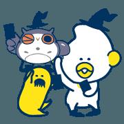 สติ๊กเกอร์ไลน์ period zero & norikae-annai