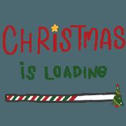 สติ๊กเกอร์ไลน์ Christmas is loading