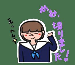 Junior high school girls and doctor sticker #15097510