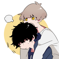 Mash and tempered boys Sticker