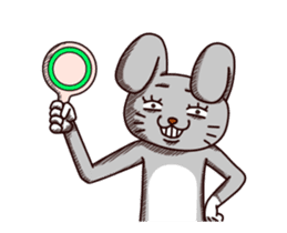 Sketchy Bunny sticker #15112517