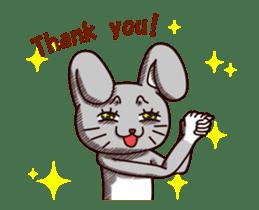 Sketchy Bunny sticker #15112519