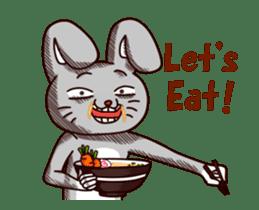 Sketchy Bunny sticker #15112520