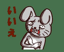 Sketchy Bunny sticker #15112521