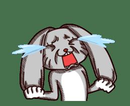 Sketchy Bunny sticker #15112522