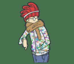 Johnny the weird winter hat sticker #15112532