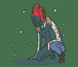 Johnny the weird winter hat sticker #15112535
