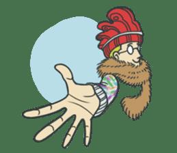 Johnny the weird winter hat sticker #15112536