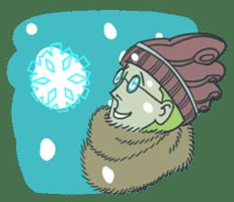 Johnny the weird winter hat sticker #15112539