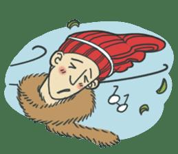 Johnny the weird winter hat sticker #15112542
