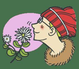 Johnny the weird winter hat sticker #15112544