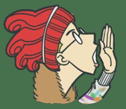 Johnny the weird winter hat sticker #15112549