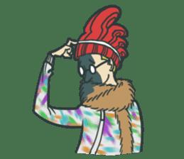 Johnny the weird winter hat sticker #15112550