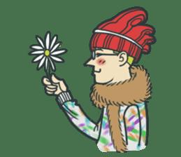 Johnny the weird winter hat sticker #15112555